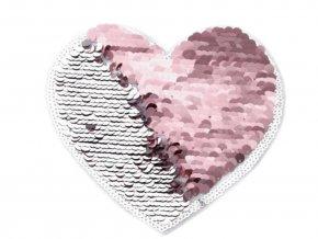 srdce flitrove stribrnoruzove 2