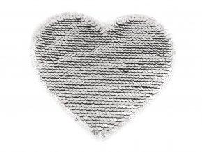 srdce flitrove stribrnoruzove