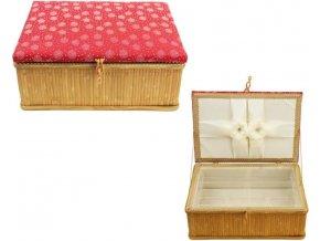 kazeta morex bambus textil červenáý