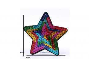 hvězda flitrová barevná