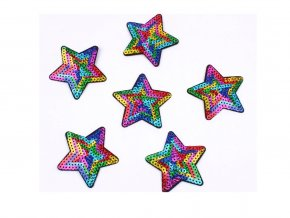 hvezda flitry barevna