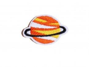 planeta oranzovozluta prstenec