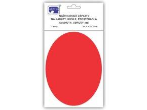 zaplaty oval cerveny