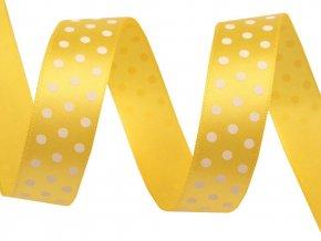 stuha žlutá puntík 1