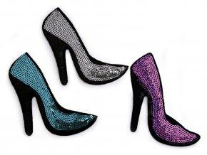 flitrová bota barevna mix