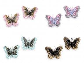 motýlek háčkovaný mix