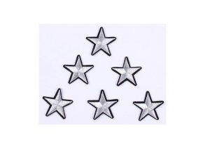 hvězda vysivana stribrna mensi