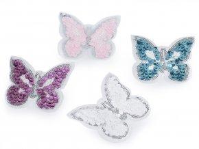 Flitrová měnící se nažehlovačka - Motýl menší