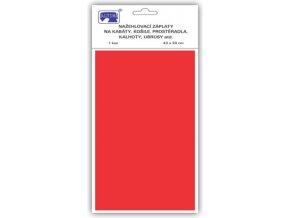 Klasické záplaty jednobarevné barva červená