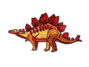 stegosaurus červenožlutý
