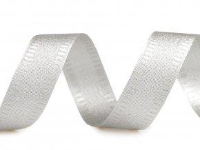 stuha stříbrná lurex 25 mm