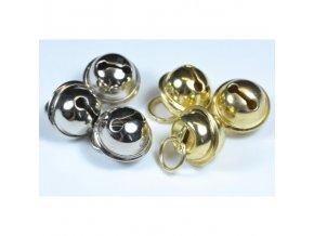 Rolničky kulaté 14 mm, zlaté a stříbrné