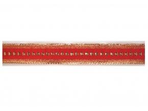 plátnová stuha s metaloplastem 25 mm červená