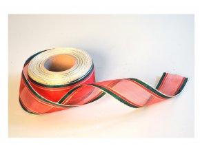 stuha červenozelená pruh, 40 mm 3