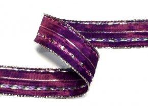 stuha fialovostříbrná