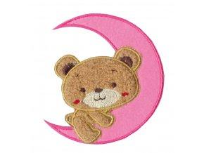 nažehlovačka medvidek růžový