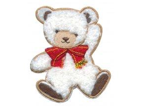 nažehlovačka medvidek bilý