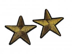nažehlovačka hvězda zlatá 48 mm