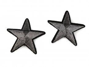 nažehlovačka hvězda šedostříbrná 48 mm