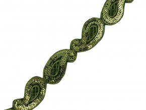 flitrový nažehlovací prýmek zelený