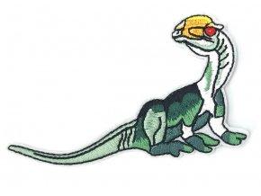nažehlovačka dinosaurus bílošedotyrkysový 2