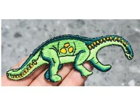 nažehlovačka dinosaurus zelený menší
