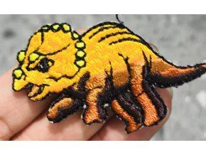 nažehlovačka dinosaurus hnědooranžový