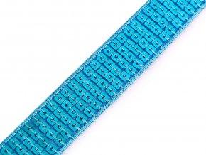 flitorvý prýmek šíře 22 mm, tyrkys