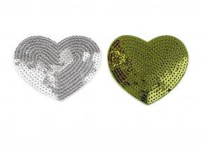 Flitrová nažehlovačka Srdce, 55x60mm