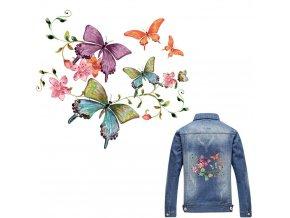 nažehlovací obrázek motýli s květy