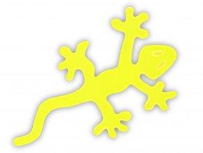 reflexní samolepka ještěrka