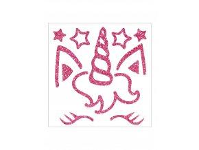 Nažehlovací obrázky třpytivé - Jednorožec s hvězdami 2