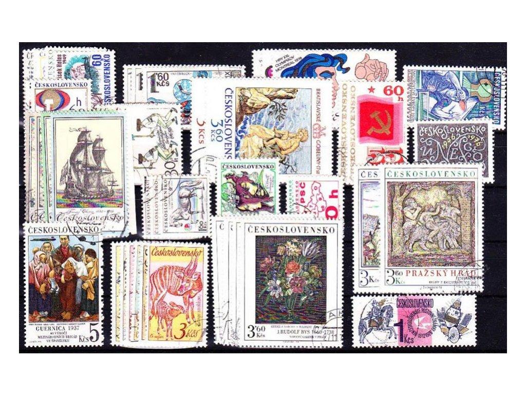 1976, kompletní ročník výplatních známek, razítkované, ilustrační foto