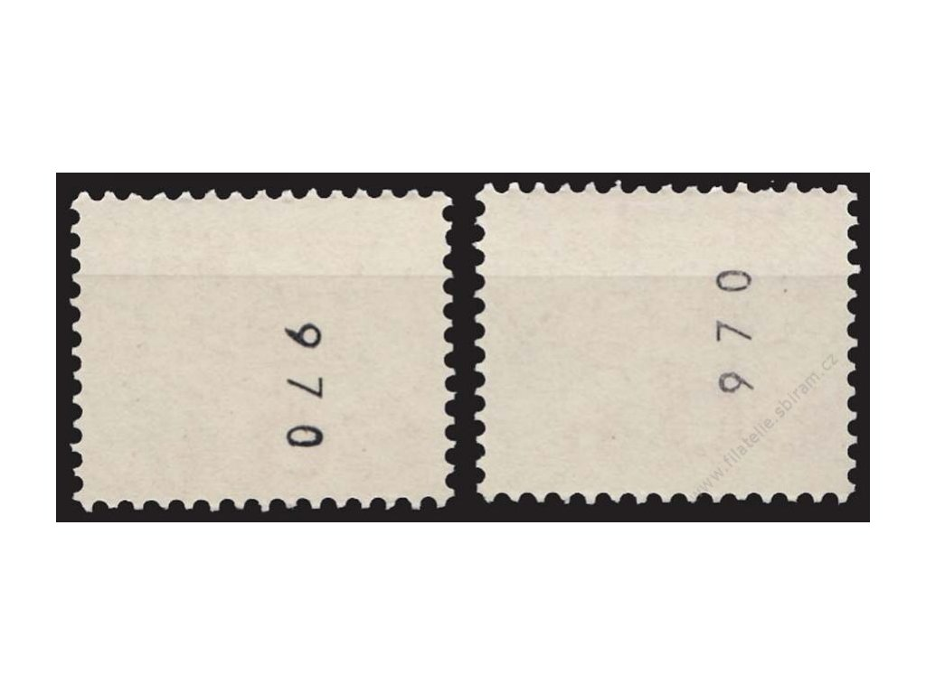 1976, 60h svitková, obrácené číslo, Nr.2217, **