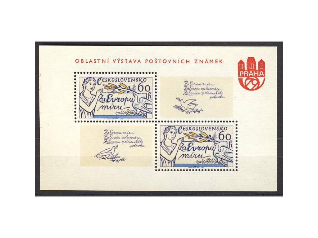 1977, aršík 60h Evropa, privátní přítisk, Nr.A2273, **