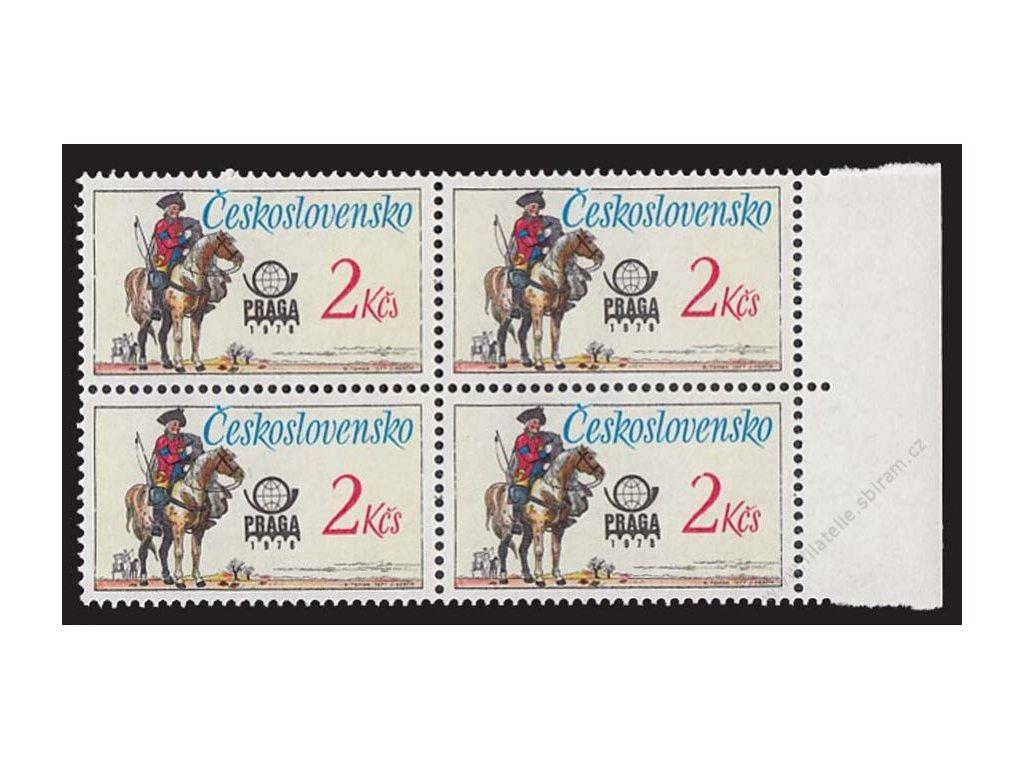 1977, 2Kčs Poštovní historické stejnokroje, DV, 4blok, Nr.2255, **