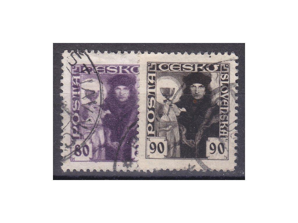 80-90h série, Nr.162-3, razítkované, ilustrační foto