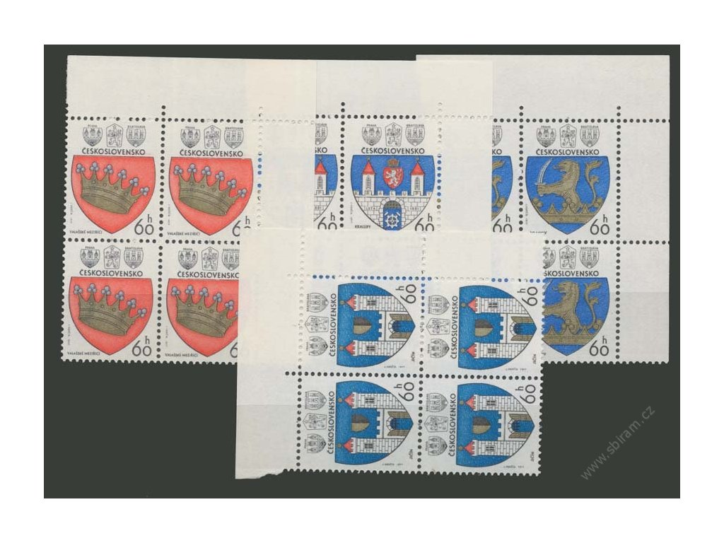1977, 60h Znaky, roh. 4bloky, Nr.2236-39, **