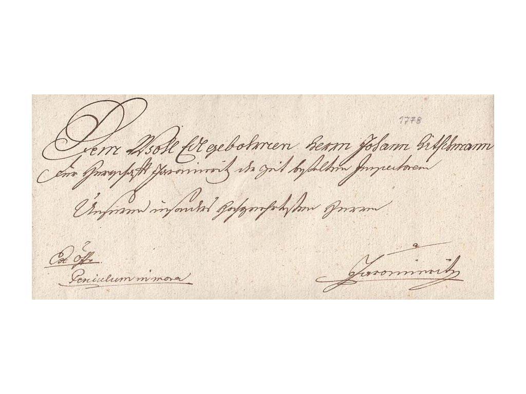1778, šlechtický dopis z období Marie Terezie, bez obsahu
