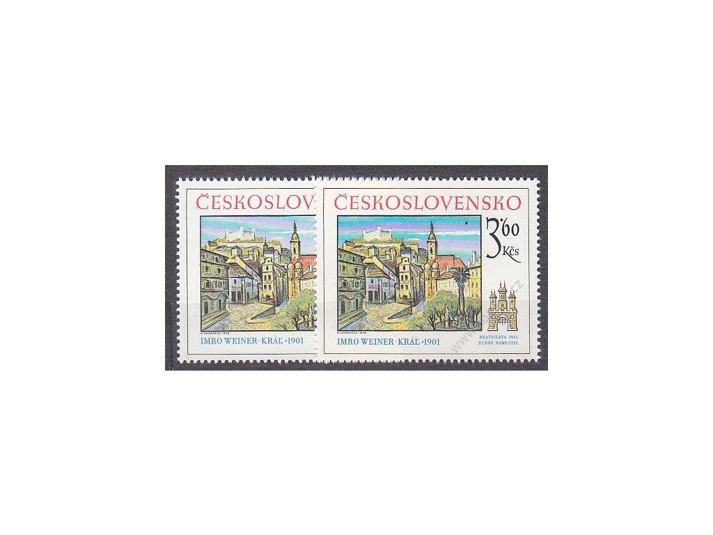 1978, 3.60Kčs Bratislavské, 2 ks - odstíny modré, Nr.2312, **