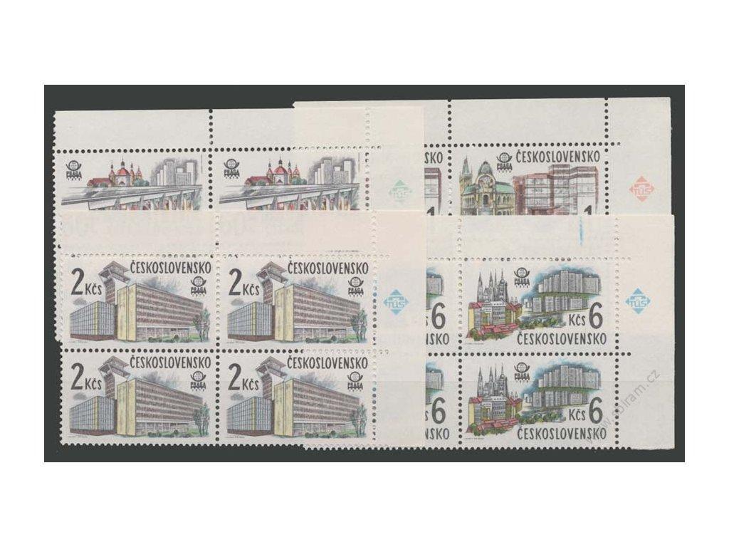 1978, 60h-6Kčs Nová Praha, roh. 4bloky, Nr.2329-32, **