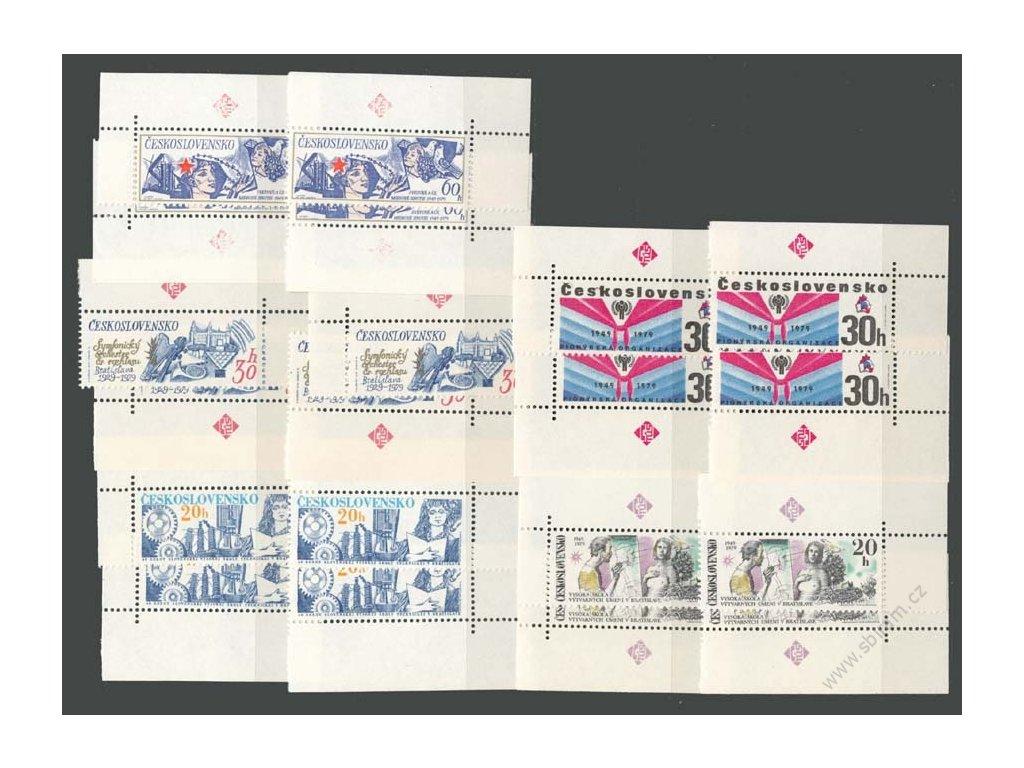 1978, 20h a 30h Výročí, roh. miniatura se značkami TÚS, **