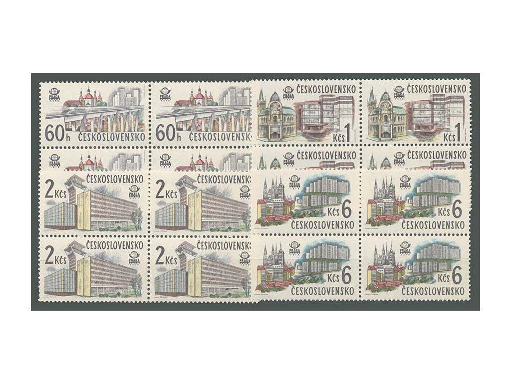 1978, 60h-6Kčs Nová Praha, 4bloky, Nr.2329-32, **