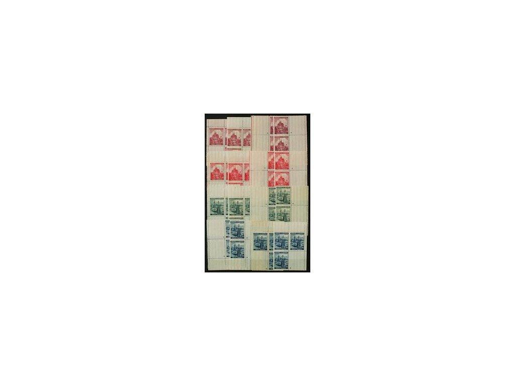 1939, 1.20-2.50K Krajinky, kompletní rohová miniatura, křížky, celkem 16 kusů 4bloků, Nr.32-