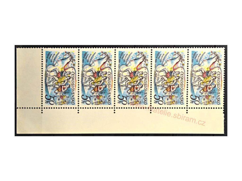 1980, 50h Maratonec, roh. 5páska s DV na ZP40 - chybějící barva za hlavou běžce, Nr.2422, hledaná DV