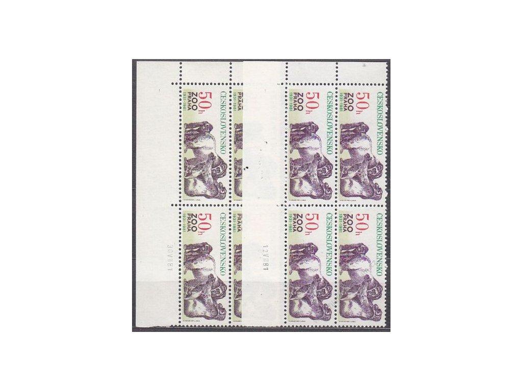 50h ZOO, 2 roh. 4bloky - odstíny barev, data tisku