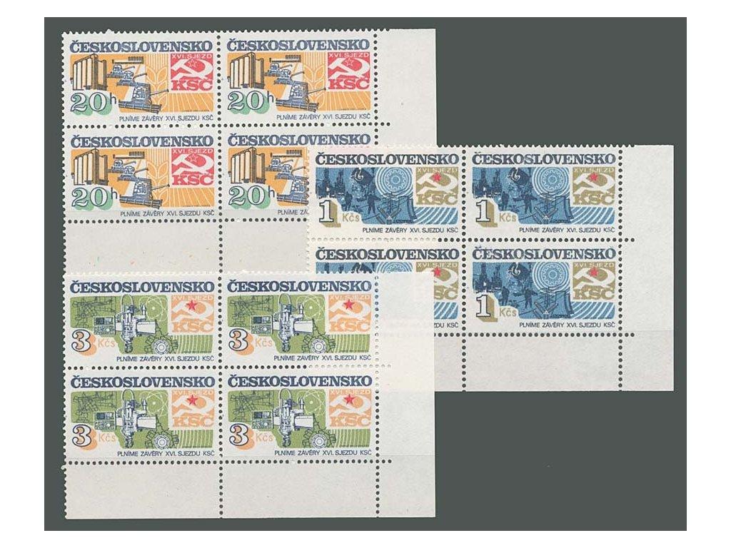 1982, 20h-3Kčs Socialistická výstavba, 4bloky, **
