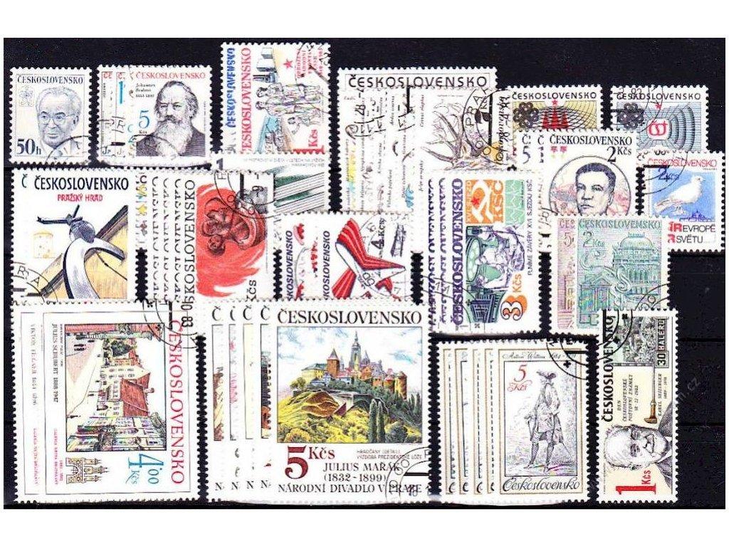 1983, kompletní ročník výplatních známek, razítkované, ilustrační foto