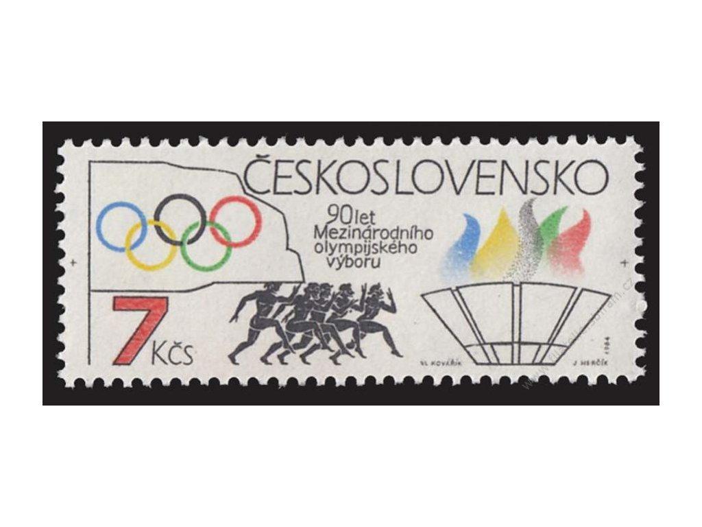 1984, 7Kčs Olympijský výbor, VV - kroužek, **