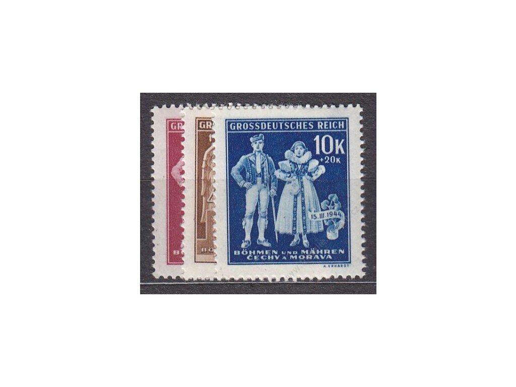 1944, 1.20-10K 5. výr. BuM, série, Nr.113-115, **